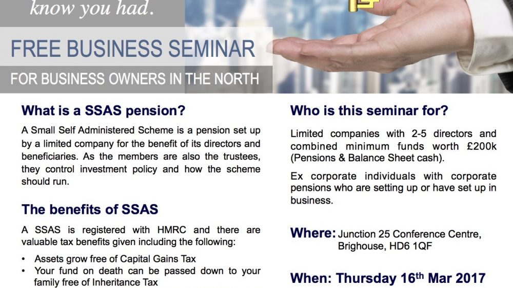 SSAS Business Seminar Yorkshire