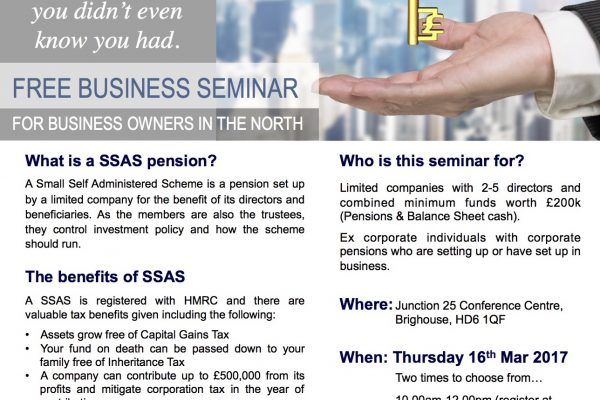 SSAS Business Seminar Yorkshire